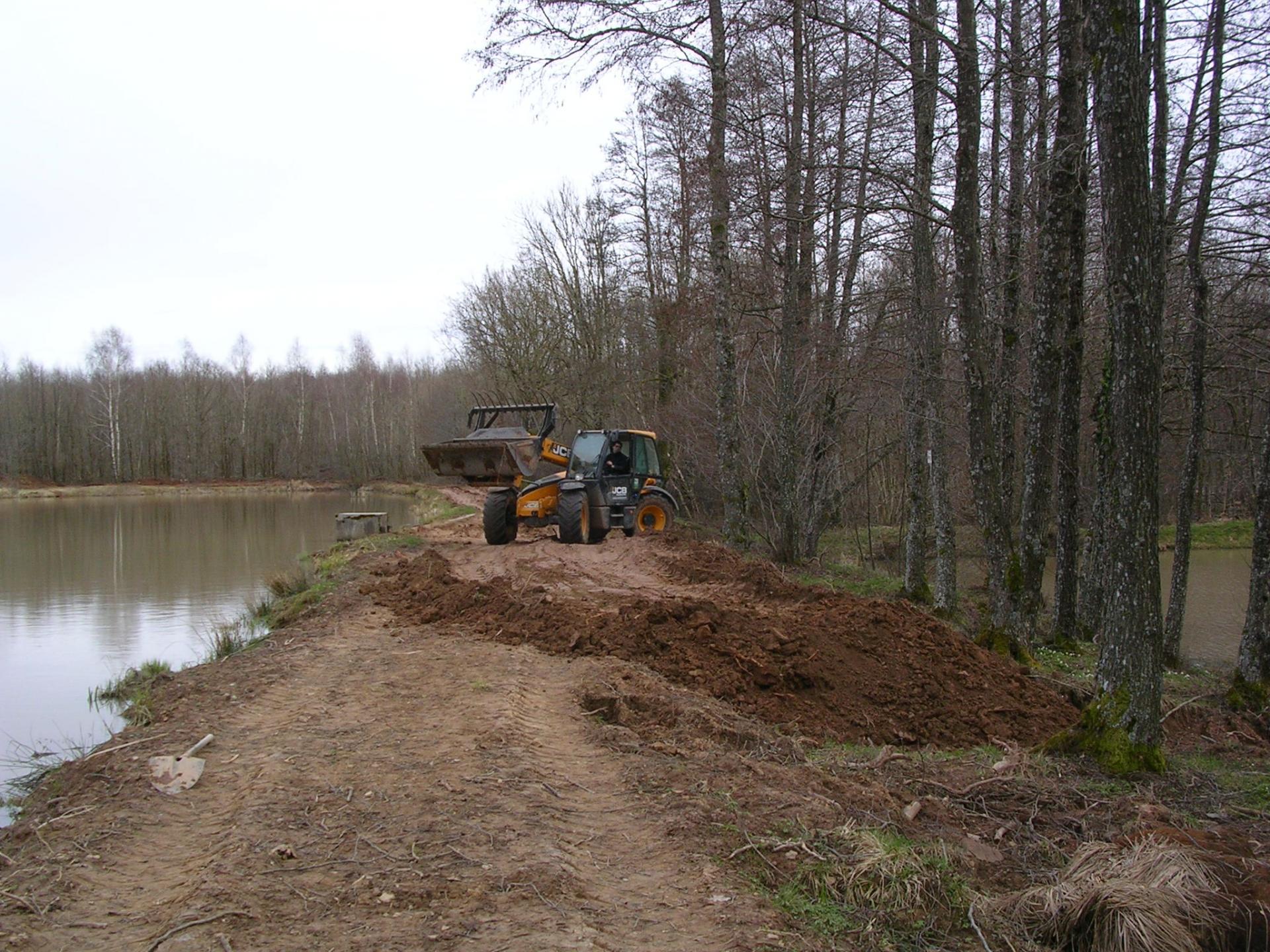 aménagement de la digue